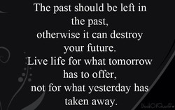 The past should be left in 