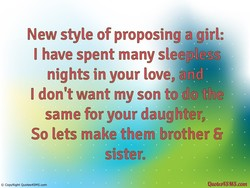 New style of proposing a girl: 