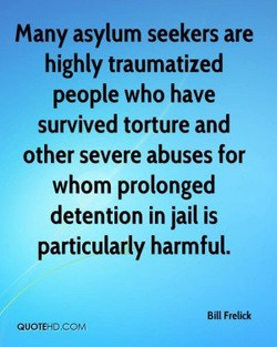 Many asylum seekers are 