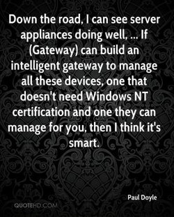 Down the road, I can see server 