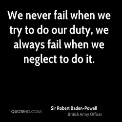 We never fail when we 