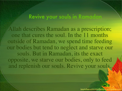 Revive your souls in Ramadan 