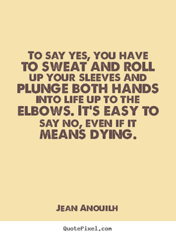 TO SAY YES, YOU HAVE 