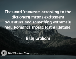 The word 'romance' according to the 
