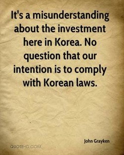 It's a misunderstanding 