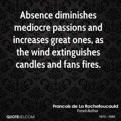 Absence diminishes 
