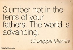 Slumber not in the 