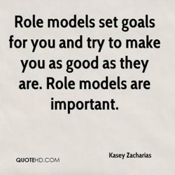 Role models set goals 