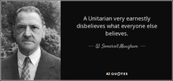 A Unitarian very earnestly 