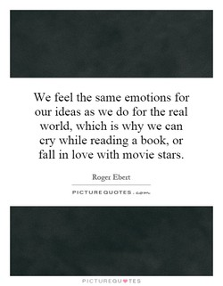 We feel the same emotions for 