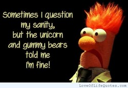 Sometimes I question 