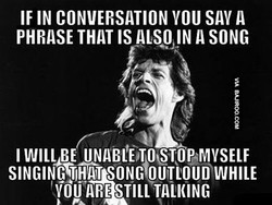 IF IN CONVERSATION you SW A 