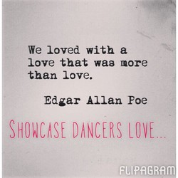 We loved with a 