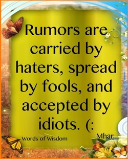 Rumors are; 