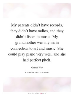 My parents didn't have records, 