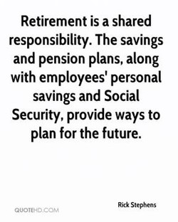 Retirement is a shared 