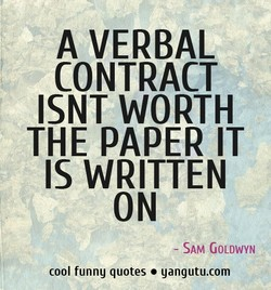 A VERBAL 