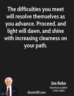 The difficulties you meet 