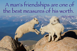 A man's friendships are one o 