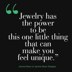 Jewelry has 