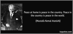 Peace at home is peace in the country. Peace in 