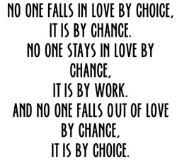 FALLS LOVE BY CHOICE. 