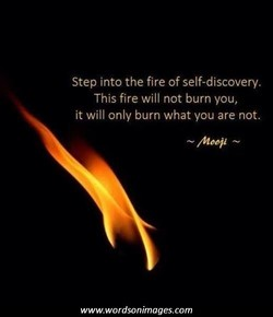 Step into the fire of self-discovery. 
