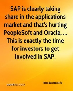 SAP is clearly taking 