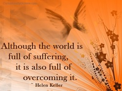 Although the world is 