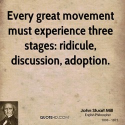 Every great movement 