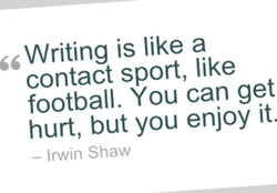 Writing is like a 