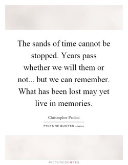 The sands of time cannot be 