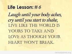 Life Lesson: #6 