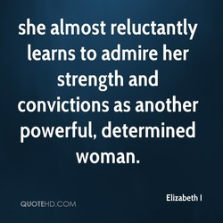 she almost reluctantly 
