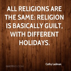 ALL RELIGIONS ARE 