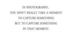 IN PHOTOGRAPHY, 
