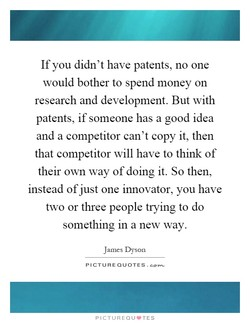 If you didn't have patents, no one 