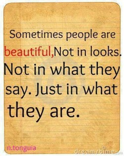 Sometimes people are 