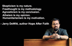 Skepticism is my nature. 
