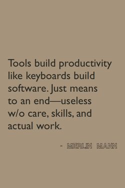 Tools build productivity 