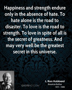 Happiness and strength endure 