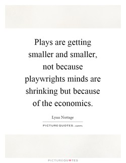 Plays are getting 