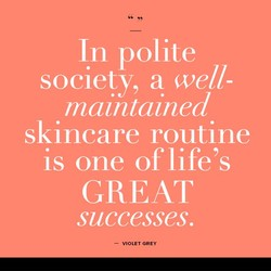 In polite 
