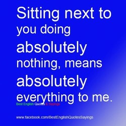 Sitting next to 