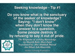 Seeking knowledge - Tip #1 