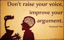 Don't raise your voice, I 