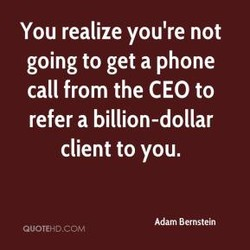 You realize you're not 