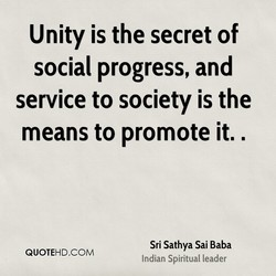 Unity is the secret of 