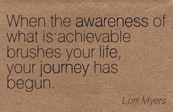 When the awareness of 