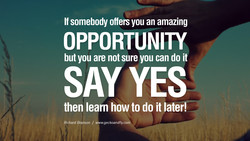 If somebody offers you an amazing 